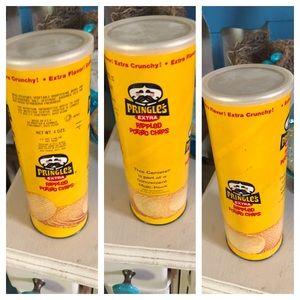 Vintage Pringles Can Advertising Display Decor